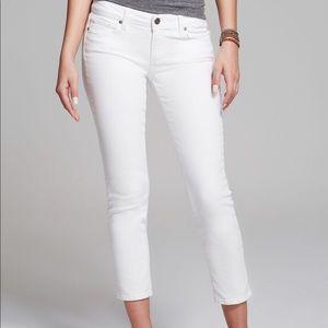 PAIGE Kylie Crop White Jeans Size 27